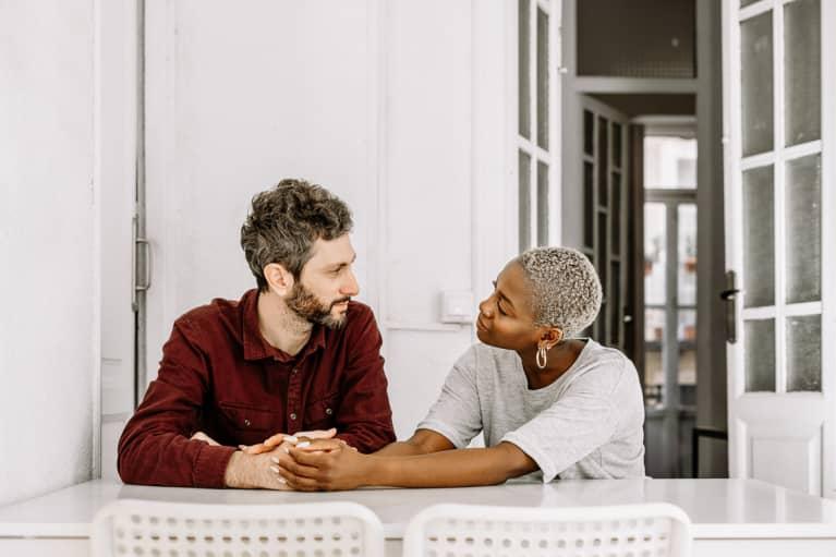 Couple Conversation